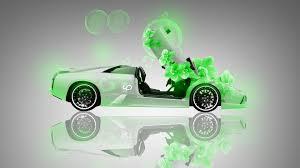 Lamborghini Murcielago Lime Green - lamborghini murcielago fantasy flowers car 2013 el tony