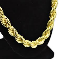 rope necklace chains images 30 quot gold 10mm rope chain rope chains png