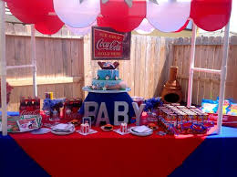 baby shower baseball theme event design company party rental draping