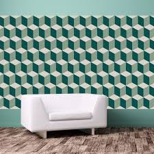 wall decals stickers home decor home furniture diy self adhesive wall stickers diy home decor green 3d cubes pack of 12