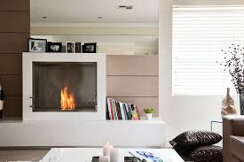 excellent living room design with white cabinet and white square