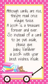 Baby Shower Instead Of A Card Bring A Book Custom Insert Card Bring A Book Instead Of A Card By Digitalparty