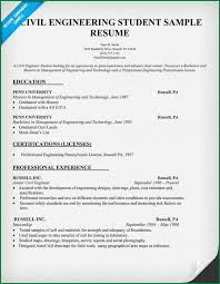 Sample Resume For Civil Engineer by 11 Engineering Student Resumes Applicationsformat Info
