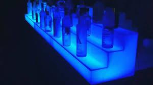 led lighted bar shelves led lighted acrylic back bar liquor shelves youtube
