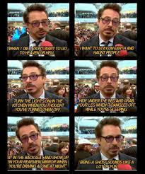Robert Downey Jr Meme - robert downey jr wants to be a ghost when he passes away
