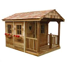 shed playhouse plans outdoor living today 6 ft x 9 ft sunflower playhouse