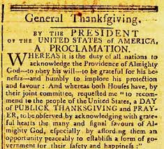 notable thanksgiving day proclamations