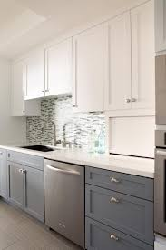 two tone kitchen cabinets white and grey multicolor modern kitchen shirry dolgin hgtv outdoor