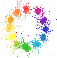color wheel with flat colors without transparency royalty free