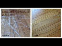 clean scratches a hardwood floor mayonnaise