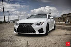 lexus cars gallery white lexus rcf on vossen wheels has the look of a cult car