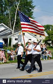 Honor Flag Honor Guard Carrying American Flag In Oldest Continuous