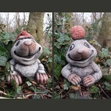 small mole set garden ornament cast onefold uk