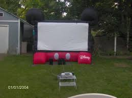 disney mickey mouse inflatable 10ft diagonal outdoor movie screen