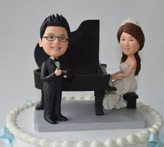 piano cake topper and piano wedding cake topper tortilla y boda