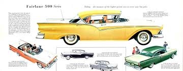 Old Ford Truck Brochures - 1957 ford fairlane 500 town hardtop convertible club hardtop