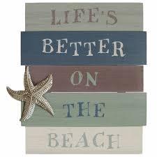 life u0027s better on the beach wall art stratton home décor shd0210