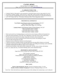 Resume Example Education Special Education Resume Samples 13 A Sample Teacher For Job