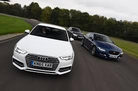 bmw 3 vs audi a4 auto express review audi a4 vs bmw 3 series vs jaguar xe