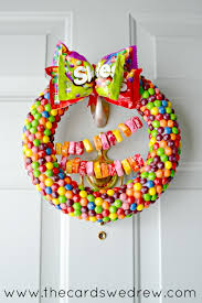 candy wreath starburst and skittles front door candy wreath the cards we drew