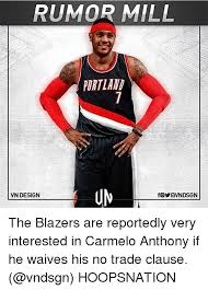 Anthony Meme - rumor mill portland vn design the blazers are reportedly very