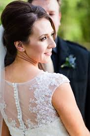 a lace wedding dress for a winter irish wedding at slieve russell