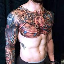 36 stunning armour tattoos on chest