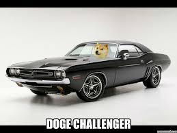 Doge Car Meme - challenger