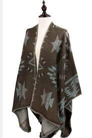 cape designs westernwomenwear western inspired aztec design ruana cape