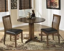 stuman round drop leaf table u0026 2 uph side chairs d293 15 01 2