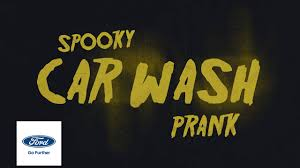 spooky halloween car wash prank escape ford youtube