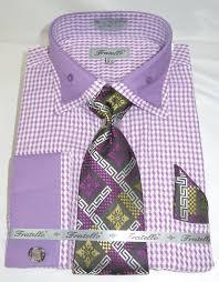 fratello frv4136p2 purple men u0027s french cuff dress shirt with bold