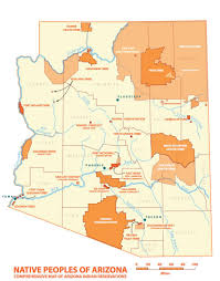 Yuma Az Map Arizona U0027s Native Nations University Secretary