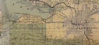 1916 wall map of chautauqua county ny