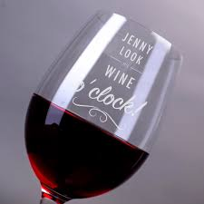 Wine Glass Gifts Personalised Wine Glass Wine O U0027clock Gettingpersonal Co Uk