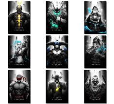9pcs x league of legends lol game boy room prints poster wall