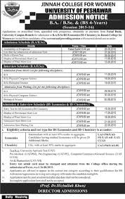 ba bs bsc admission in university of peshawar admissions courses