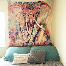 Hippy Home Decor Amazon Com Chicvita Elephant Tapestry Wall Hanging Decor Indian