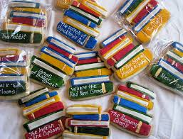 stacked book cookies stacked books reading challenge and cookies