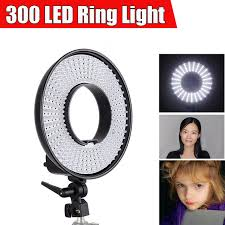 circle light for video falcon eyes dvr 300dvc led video ring light 3000k 7000k dimmable w