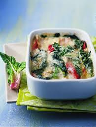 cuisiner blettes recette gratin de blettes à l italienne