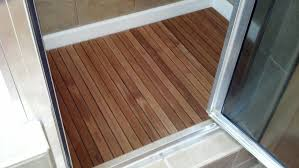 Bathroom Flooring Ideas Bathroom Exciting Bathroom Decor Ideas With Cozy Teak Bath Mat