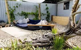 seaside garden with ornamental grasses beautiful outdoor seaside