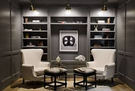Padded Ottomans Interior Modern Built In Wall Shelves With Framed Picture White