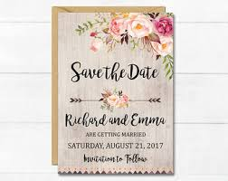 rustic save the date rustic save the date etsy