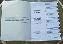 harley davidson motor company service manual softail models 1997