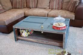 how to make a coffee table out of pallets how to make a coffee table out of an old door