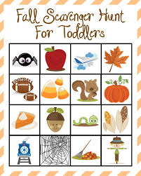 fall scavenger hunt for toddlers extreme couponing mom