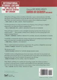 games of strategy amazon co uk avinash k dixit david h reiley