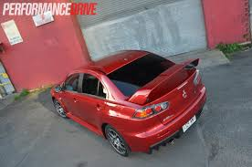 mitsubishi evo red 2014 mitsubishi lancer evolution x mr rear spoiler